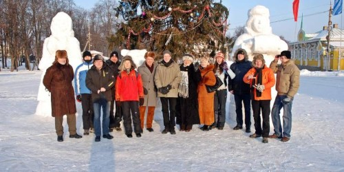 Gruppenfoto im Winter